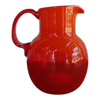 Mid Century Kaj Franck for Nuttijarvi Poppy Orange Pitcher