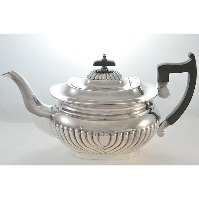 Sheffield English Sheffield Silver Plate Coffee & Tea Set- 4 Pieces For Sale - Image 4 of 11