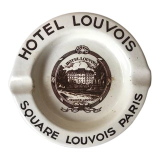 Vintage French Vintage Hotel Louvois Tray by Sarreguemines For Sale