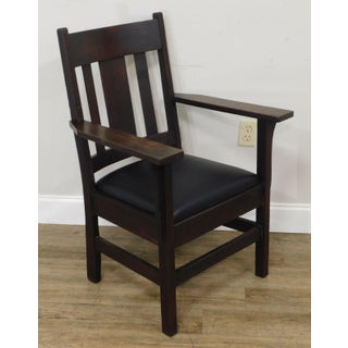 Antique Mission Oak Armchair Preview