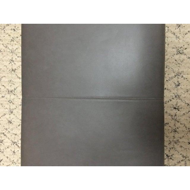 Gray B & B Italia Italian Modern Leather Bench For Sale - Image 8 of 10