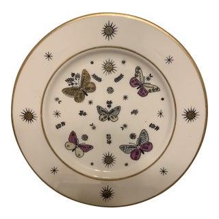 1970s Mid Century Butterfly & Sunburst Motif Plate For Sale