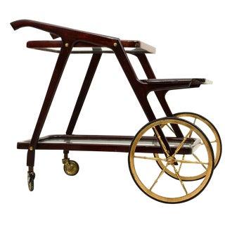 Mid-Century Modern Italian Cesare Lacca Service Cart For Sale