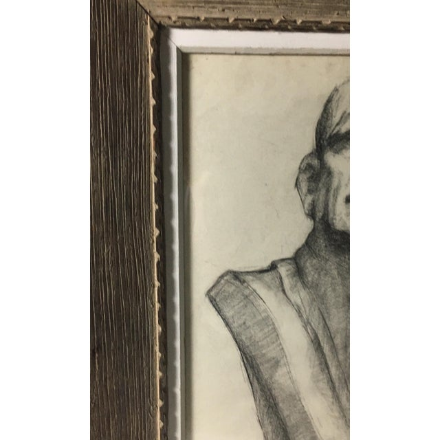 Academy Style Charcoal on Paper For Sale - Image 5 of 9