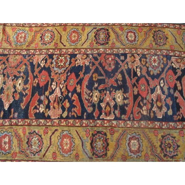 """Mid 19th Century Antique Nw Persian Rug 3'4"""" X 14'3"""" For Sale - Image 5 of 6"""