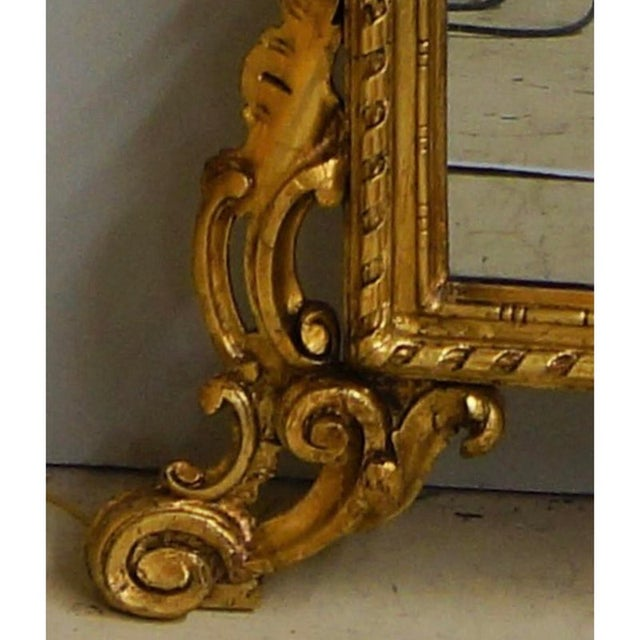 19th Century Louis XIV Style Gilt Wood and Gesso Mirror For Sale - Image 4 of 13
