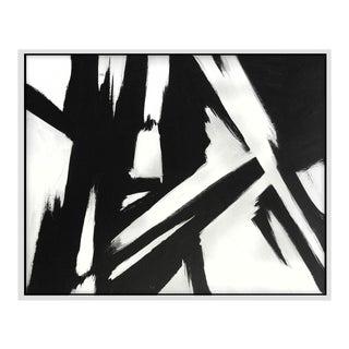 """""""Black Slash No. 1"""" Framed Print For Sale"""