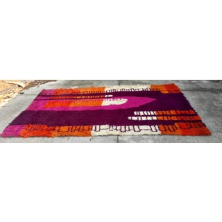 1960s Vintage Danish Modern Mid Century Abstract Ege Rya Shag Rug- 6' X 9' Preview