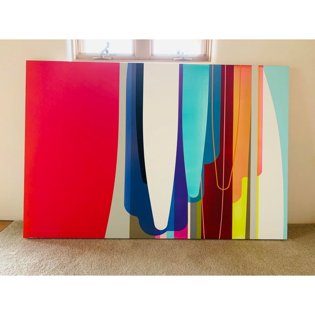 Abstract Accelerator, an Acrylic Painting by by Dion Johnson For Sale - Image 3 of 9