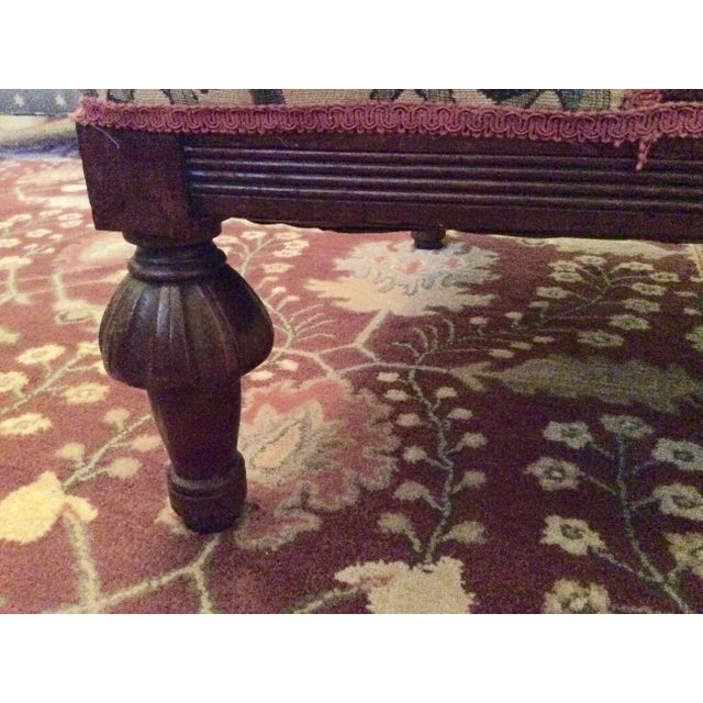 1800's Victorian Carved & Upholstered Armchair - Image 5 of 6
