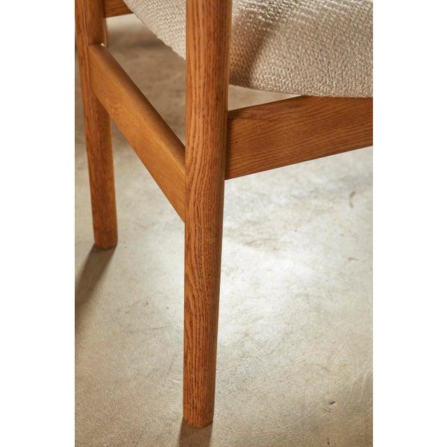 Wood Set of 6 Danish Oak Dining Chairs for Fdb Mobler by Jørgen Bækmark For Sale - Image 7 of 8