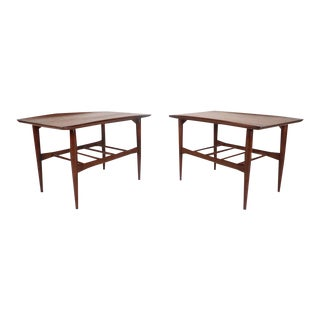 Mid-Century Modern Walnut End Tables by Basset Furniture Company For Sale