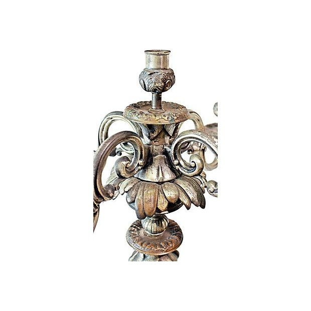 Antique French Bronze Candelabra - A Pair For Sale In West Palm - Image 6 of 6