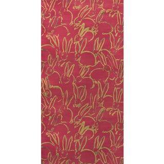 Hunt Slonem for Lee Jofa, Hula Wallpaper Roll, Pink, 7 Yards For Sale