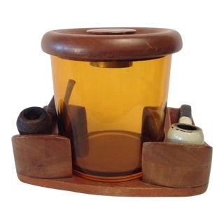 Vintage Amber Glass Humidor