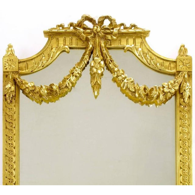 Gold Early 20th Century Italian Giltwood Phoenix Wall Mounted Console and Mirror For Sale - Image 8 of 11