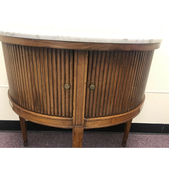 20th Century French Demi Table with Marble Top For Sale In New York - Image 6 of 9