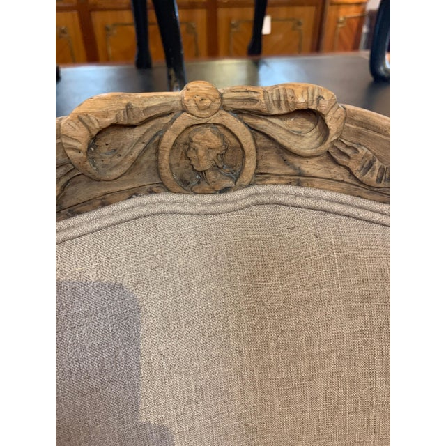 Late 18th Century Set of 4 18th Century French Armchairs Made of Bleached Walnut For Sale - Image 5 of 10