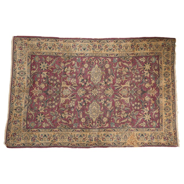 """Vintage Lilihan Carpet - 6'2"""" X 9'6"""" For Sale - Image 12 of 12"""
