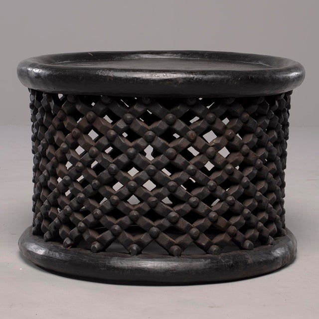 Black African Bamileke Carved Wood Table or Stool For Sale - Image 8 of 8