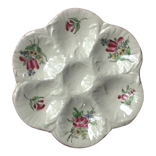 Antique French Faience Oyster Plate Old Strasbourg For Sale