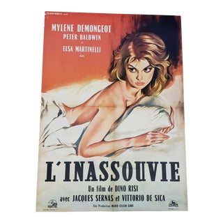 """Vintage Italian Film Poster the Unsatisfied """"L' Inassouvie"""" For Sale"""