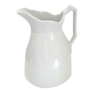 19th Century English Ironstone Meakin Pitcher For Sale