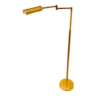 1970s Mid Century Koch & Lowy Adjustable Floor Lamp For Sale