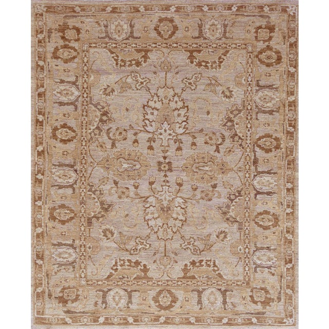 Mansour Quality Agra Rug - 6′4″ × 7′8″ For Sale In Los Angeles - Image 6 of 6