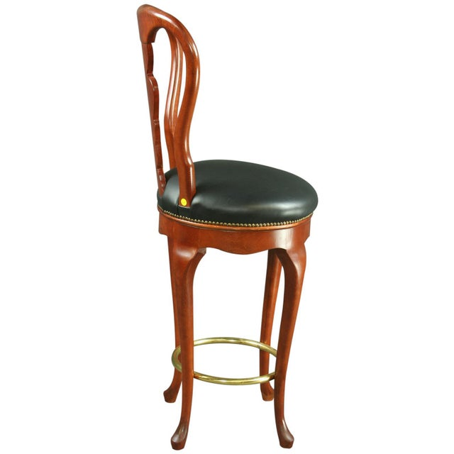 Queen Anne New Swivel Bar Stools - Pair - Image 6 of 6