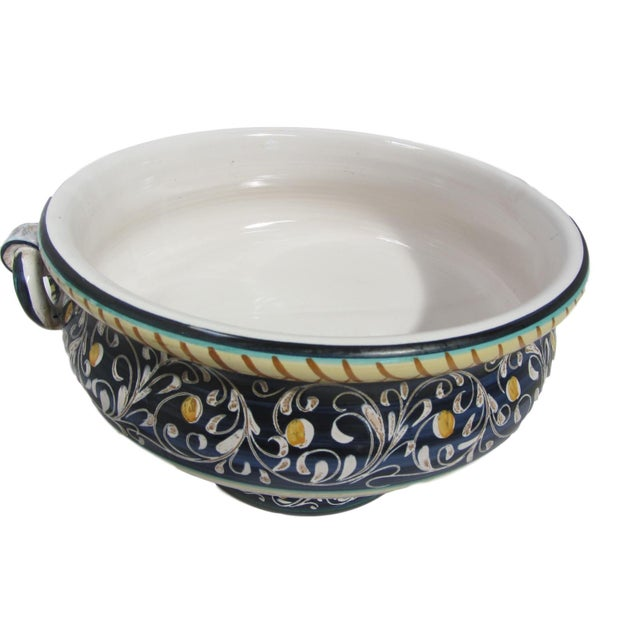 Large Italian Faience Footed Compote - Image 2 of 4