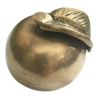 Vintage Rosenthal Netter Solid Brass Apple For Sale