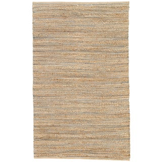 Jaipur Living Canterbury Natural Solid Beige/ Blue Area Rug - 8′ × 10′ For Sale