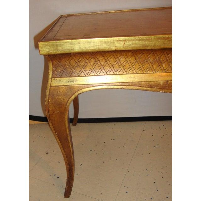 Maison Jansen Hollywood Regency Style Jansen Gilt Gold Coffee Table For Sale - Image 4 of 6