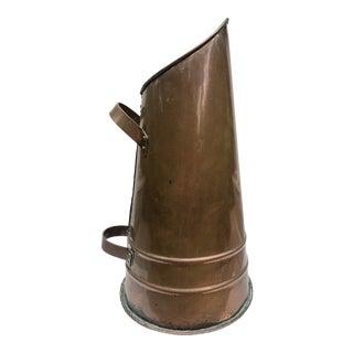 Antique Copper Double Handle Bucket For Sale
