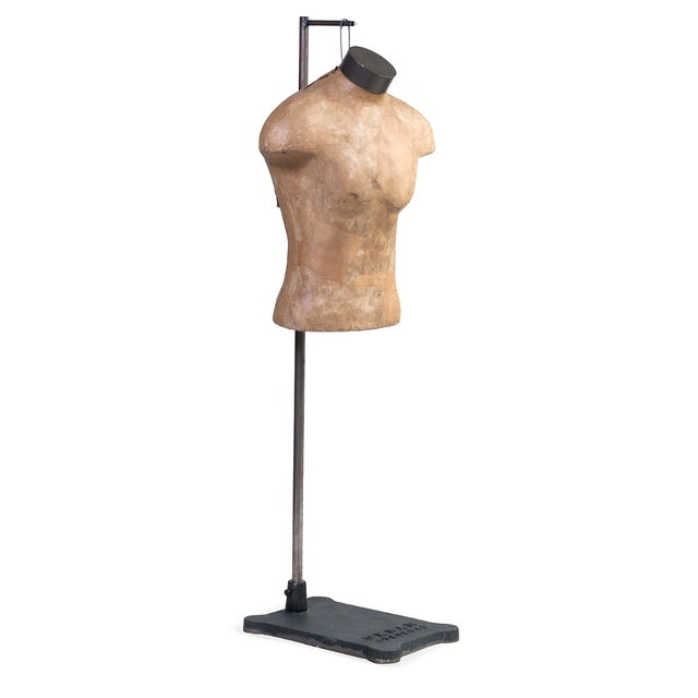 Male Mannequin Torso With Adjustable Stand - Image 1 of 4