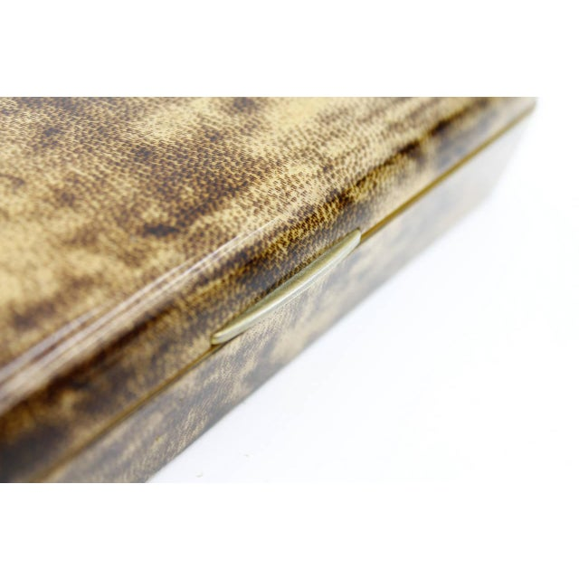 Italian Rare Goatskin Cigar Box by Aldo Tura, Italy, 1960s For Sale - Image 3 of 7