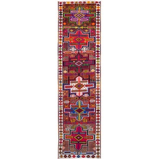 Early 20th Century Vintage Turkish Wool Runner Rug For Sale