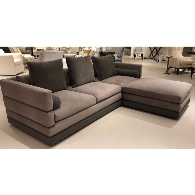 Showroom New. The Nathan Anthony Evok Sofa is a striking Euro-inspired Modular Design with Ample Seating, Playful...