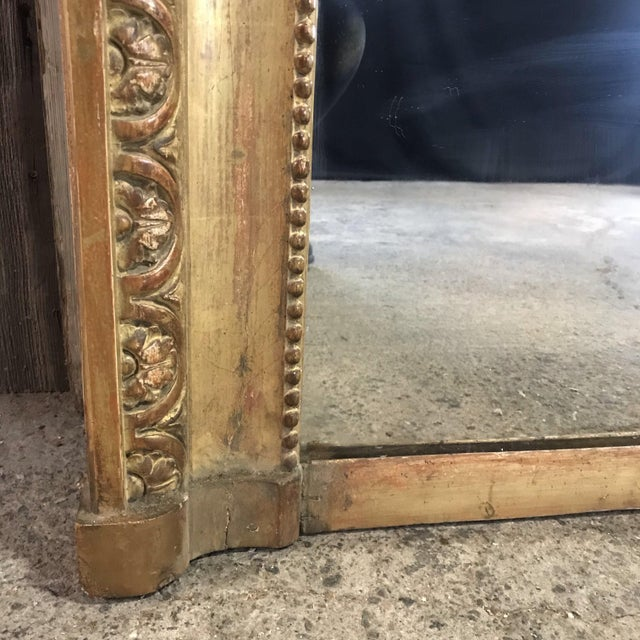 Wood 19th Century Louis XIV Giltwood Mirror For Sale - Image 7 of 10