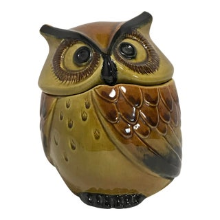 Vintage Metlox Poppytrail Owl Small Canister