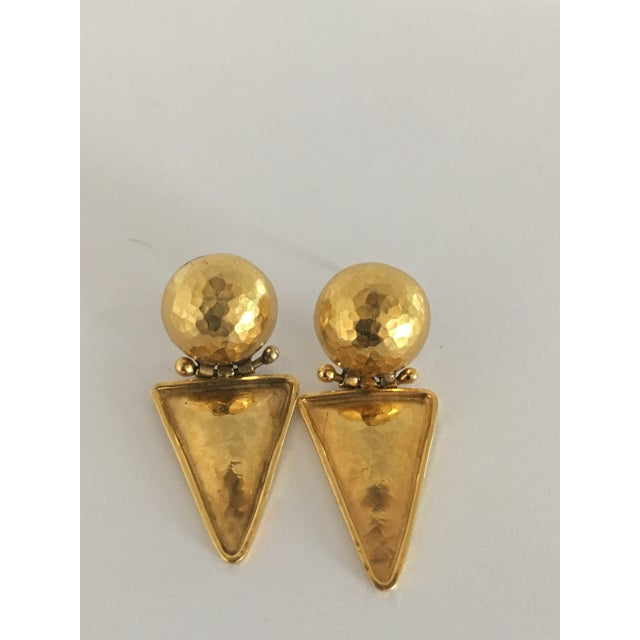 Italian 18k Gold Earrings For Sale - Image 4 of 10