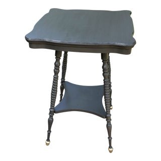 1900s Arts and Crafts Gray Oak Accent Table