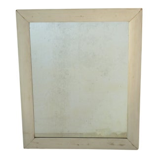 Whitewashed Frame Wall Mirror For Sale