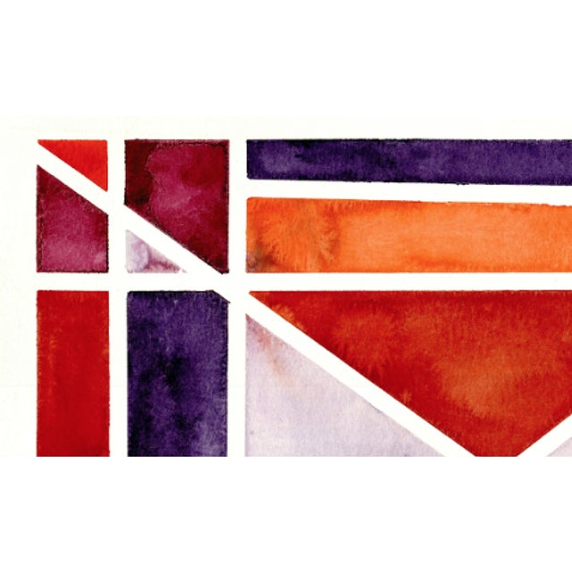 Abstract Watercolor Original Art - 11 In. X 15 In For Sale In Los Angeles - Image 6 of 7