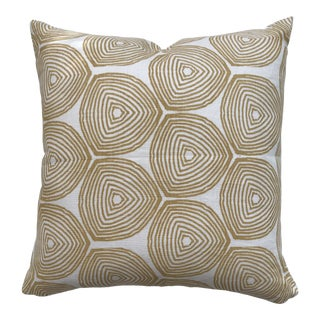 Greige Textiles Ward Wheat on Oyster Pillow For Sale