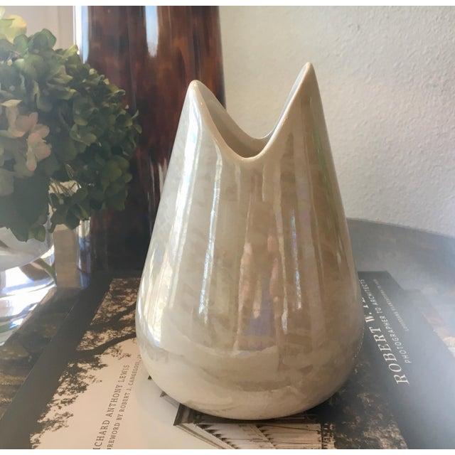 Ceramic McCoy Pottery Mother of Pearl/Opal Glaze Cascade Vase For Sale - Image 7 of 7