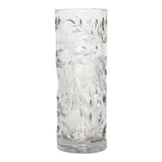 Mid-Century Modern Hollywood Regency Glass Flower Vase For Sale