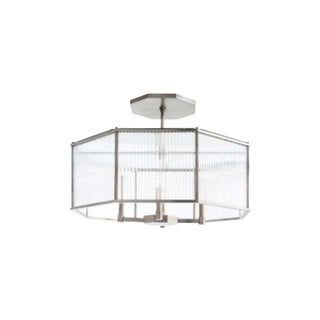 Arteriors Modern Hera Silver Finished Octagonal Chandelier For Sale