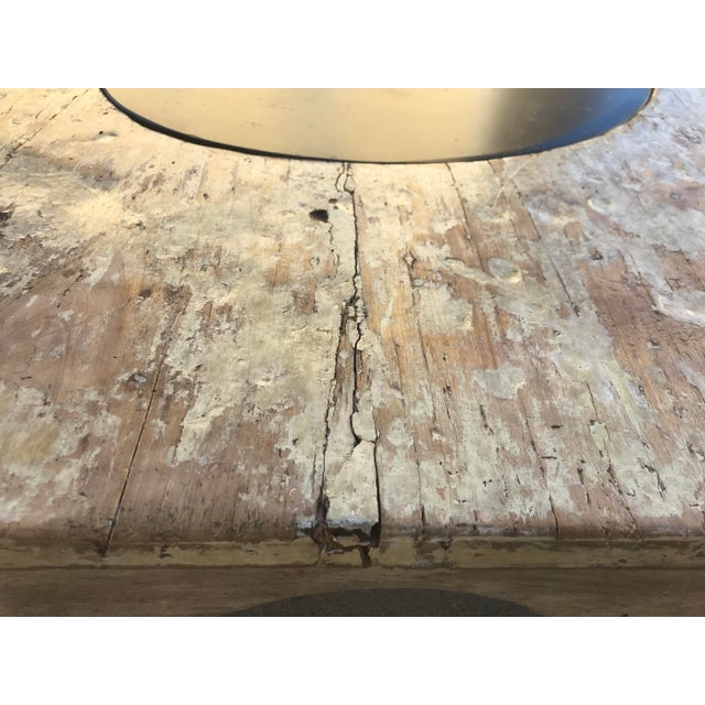 Moroccan Distressed Wood Octagonal Coffee Table For Sale - Image 11 of 13